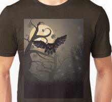 Owl in the Night Forest Unisex T-Shirt