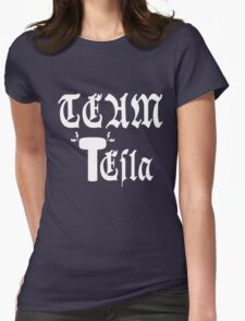 Team Tesla-Inverted Womens Fitted T-Shirt