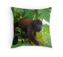 Baby Red Howler Throw Pillow