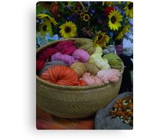Wool Dyed with Natural Materials Canvas Print