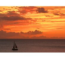 New Years Eve Sunset over Oahu  Photographic Print