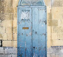 Blue weathered door by JacquiHall