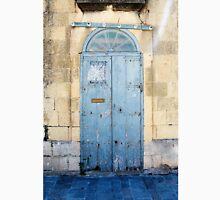 Blue weathered door Unisex T-Shirt