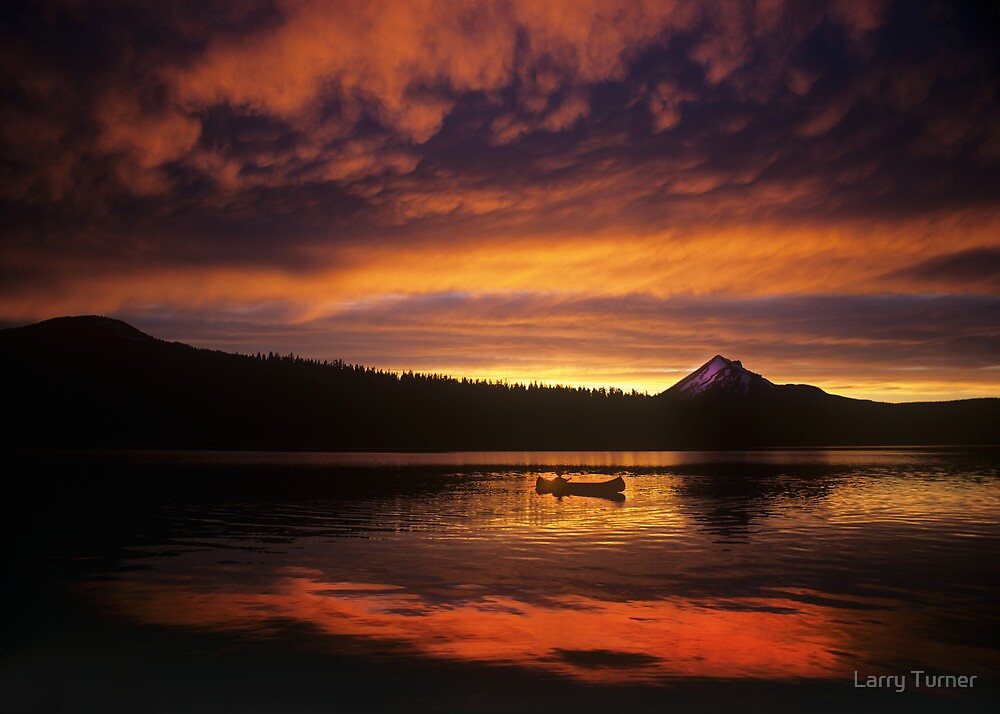 Director James Ivory and Lake of the Woods Sunset by Larry Turner