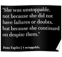 beau taplin quote Poster