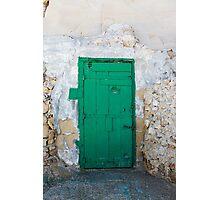 Green Door of Gozo Photographic Print