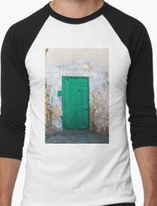 Green Door of Gozo Men's Baseball ¾ T-Shirt