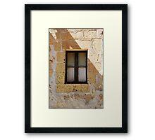 Old shutter's Framed Print
