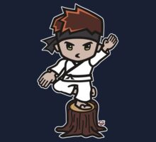 Martial Arts/Karate Boy - Crane one-legged stance One Piece - Short Sleeve