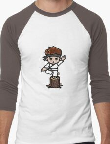 Martial Arts/Karate Boy - Crane one-legged stance Men's Baseball ¾ T-Shirt