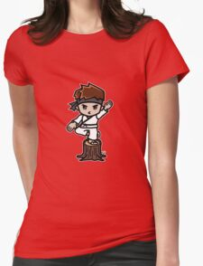 Martial Arts/Karate Boy - Crane one-legged stance Womens Fitted T-Shirt