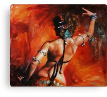 Dancing with Scarlet Canvas Print