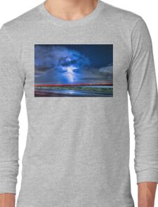 Alien Power Line Explosion Long Sleeve T-Shirt