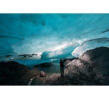 Under the glacier Photographic Print
