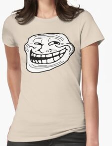 Trollface Womens Fitted T-Shirt