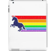 '80s Vintage Unicorn Rainbow (distressed look) iPad Case/Skin