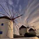 The Windmills of Mykonos #2 by Peter Hammer