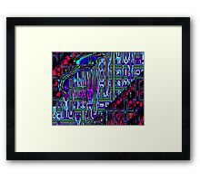 Raw Fractions Framed Print