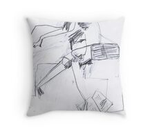 saturday paper Throw Pillow