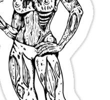 Foxie Zombie Sticker