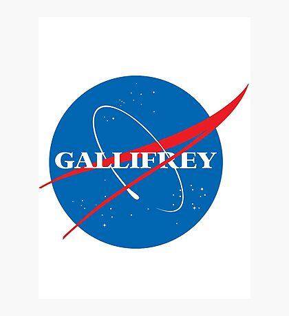 Gallifrey (Blue) Photographic Print
