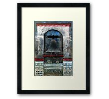 Bell Tower, Mission 21 with Flowers, USA. Framed Print
