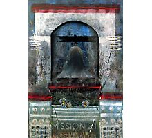 Bell Tower, Mission 21 with Flowers, USA. Photographic Print