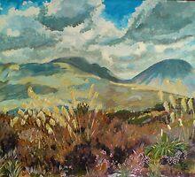Mt Ngauruhoe and Mt Tongariro Tongariro National Park North Island New Zealand  by Tamzyn Lawrence