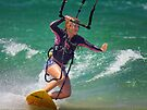 Kite Surfing at Merimbula by Darren Stones