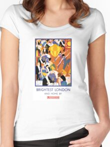 Brightest London Vintage Poster Restored Women's Fitted Scoop T-Shirt