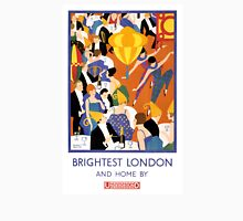 Brightest London Vintage Poster Restored Unisex T-Shirt