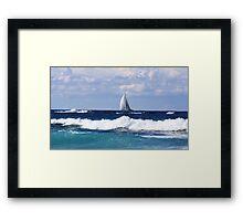 sails at kingscliff ... Framed Print