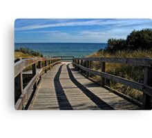 Boardwalk . . . to the beach (HDR) Canvas Print