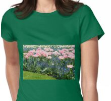 Foxtrot tulips blooming in garden Womens Fitted T-Shirt