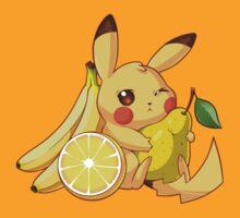 Pikachu & Fruits by Purrdemonium