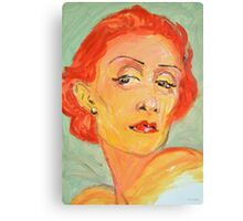 Lady with Red Hair Canvas Print