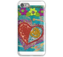 Stitching a Heart to my Sleeve iPhone Case/Skin