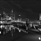 Melbourne at Night (Australia) by peterperfect