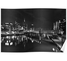 Melbourne at Night (Australia) Poster