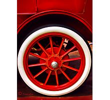 1910 Reo Wheel Photographic Print