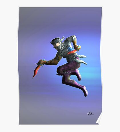 lilac Ninja Poster