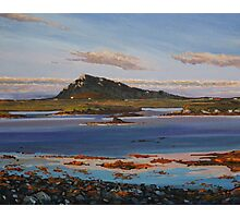 Sunset on Euval, North Uist Photographic Print