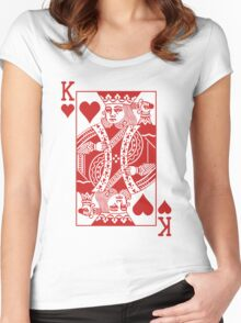 King of Hearts - Red Women's Fitted Scoop T-Shirt