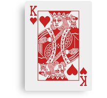 King of Hearts - Red Canvas Print