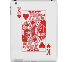 King of Hearts - Red iPad Case/Skin