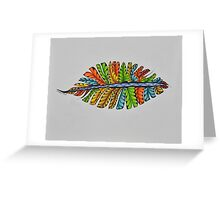 Feathers/5 -Feathers Greeting Card