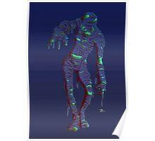 neon mummy Poster