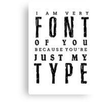 Font Type Canvas Print