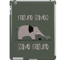 Save nature iPad Case/Skin