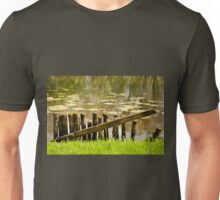 Old broken wooden fence Unisex T-Shirt